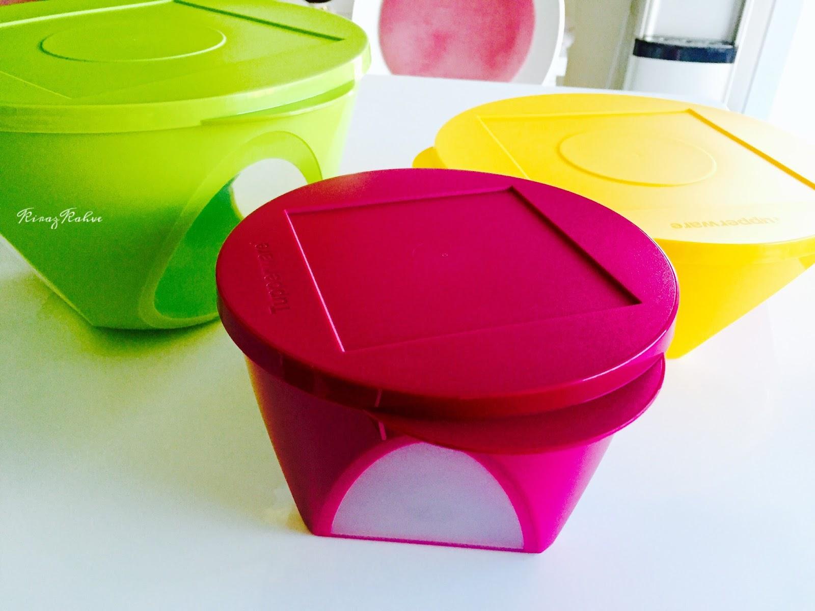 tupperware renkli tutku saklama kabı