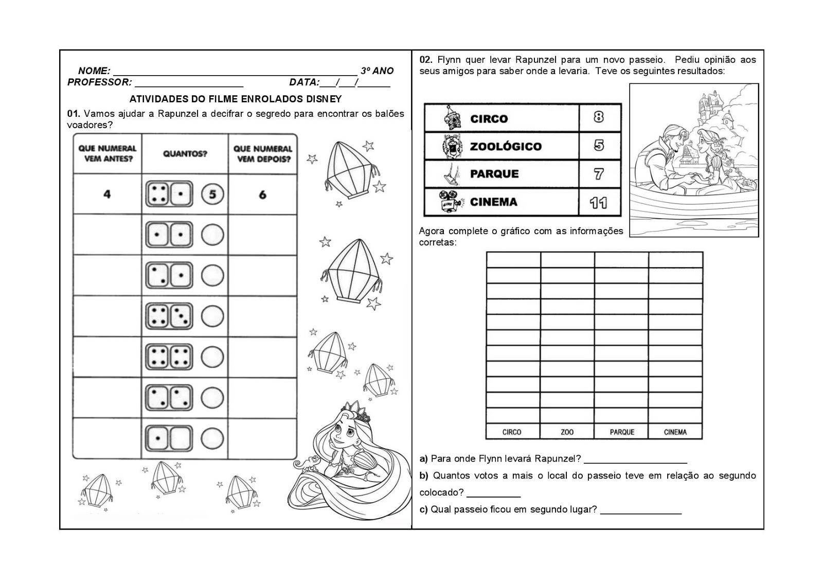 80 Atividades De Matem C3 81tica 28enrolados Disney 29 30