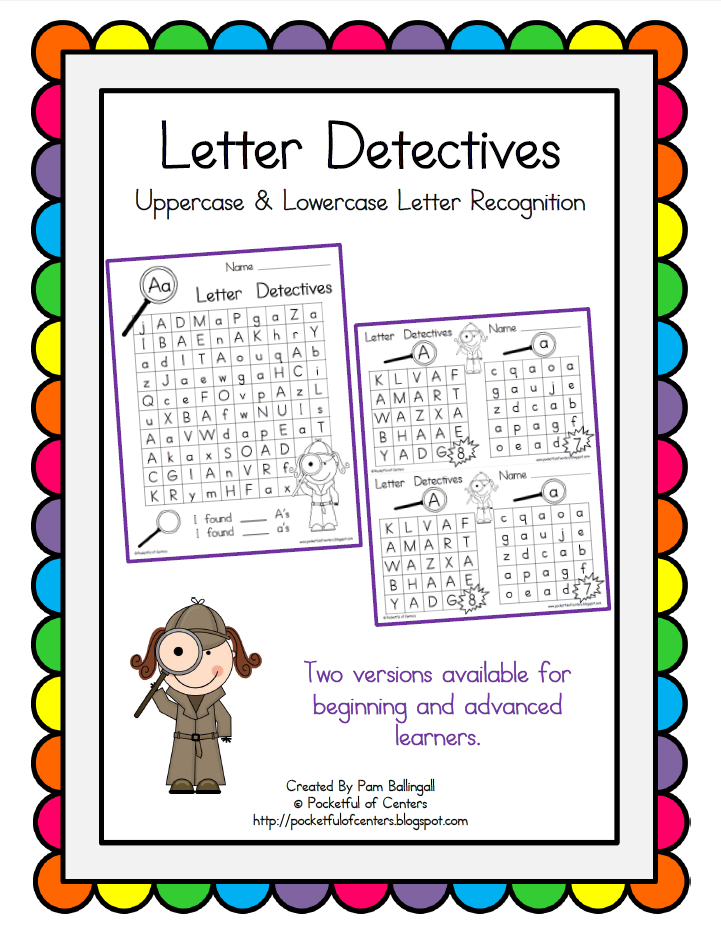 find a letter letter detective by robinson tpt pocketful of centers updates 335