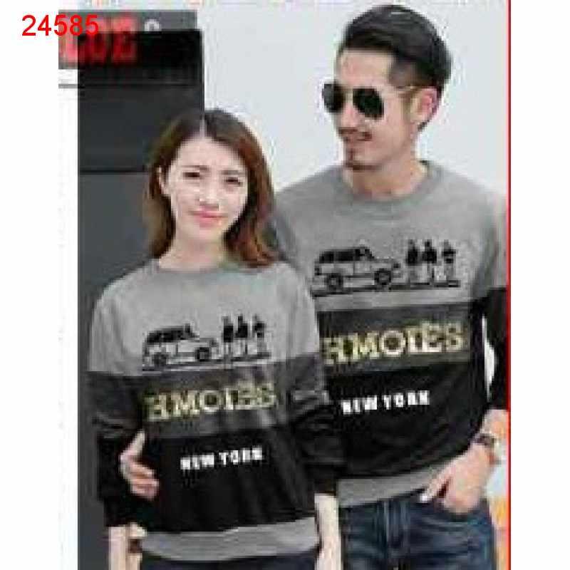 Jual Sweater Couple Sweater Hmoies Abu Muda - 24585