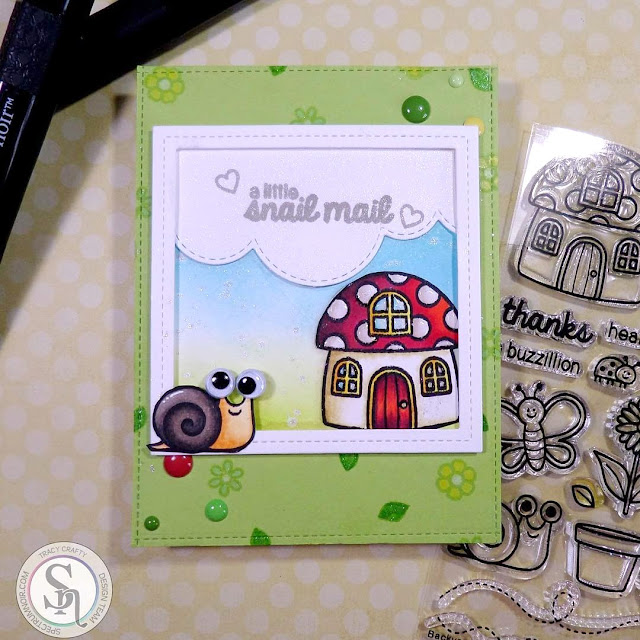 Sunny Studio Stamps: Backyard Bugs Card by Tracy Crafty