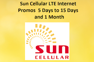 Sun Cellular LTE Internet Promos  5 Days to 15 Days and 1 Month