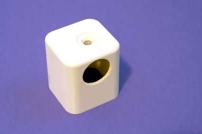Handtuchhalterung mit Bohrungen direkt aus dem 3D-Drucker