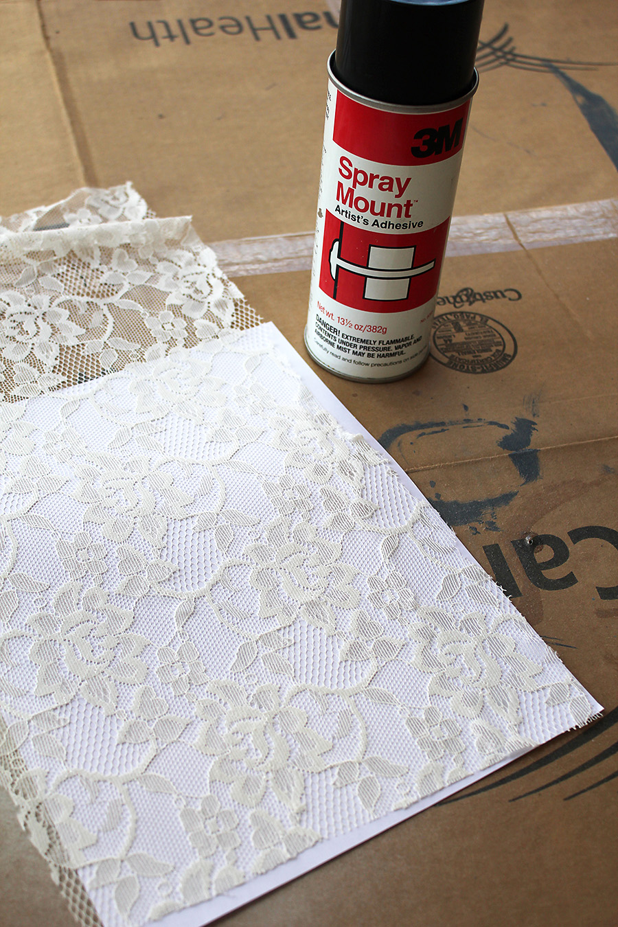 stayathomeartist.com: guest tutorial: spray painted lace ...