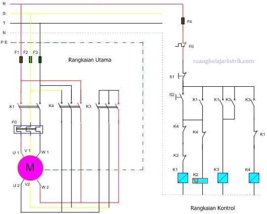 Rangkaian Pengendali Sistem Star Delta Otomatis Untuk Motor