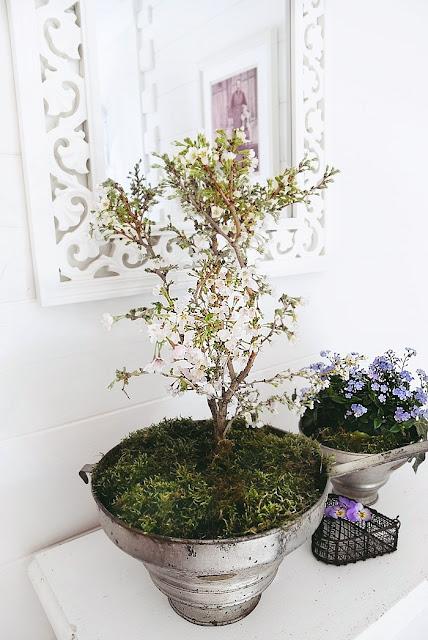 Ideen für eine romantische Vintage Blumendeko.