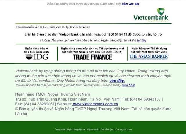 Trước đây Vietcombank cũng gặp tình trạng tương tự