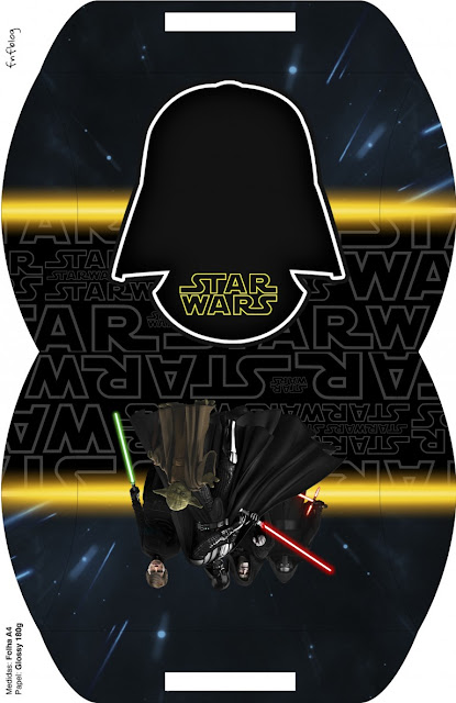 Star Wars: Cajas para Imprimir Gratis.   Oh My Fiesta! Friki
