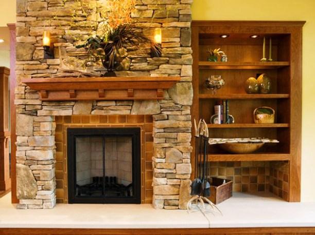 Inspirasi Desain Interior Rumah Memadukan Batu Alam dan Kayu