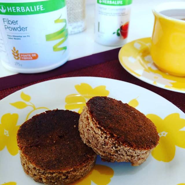 Bolo-bolo de keffir-keffir-lactobacilos-fiberpowder-herbalife-fibras-fibra em pó-lanche-farinha de arroz-cleo moretti-dona maricota feliz-receita-iogurte
