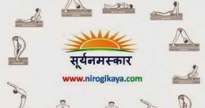 surya namaskar mantra in hindi pdf