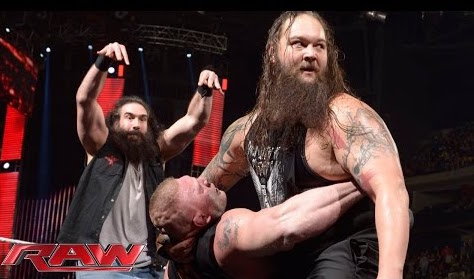 Royal Rumble Raw Brock Lesnar Luke Harper Bray Wyatt Erick Rowan