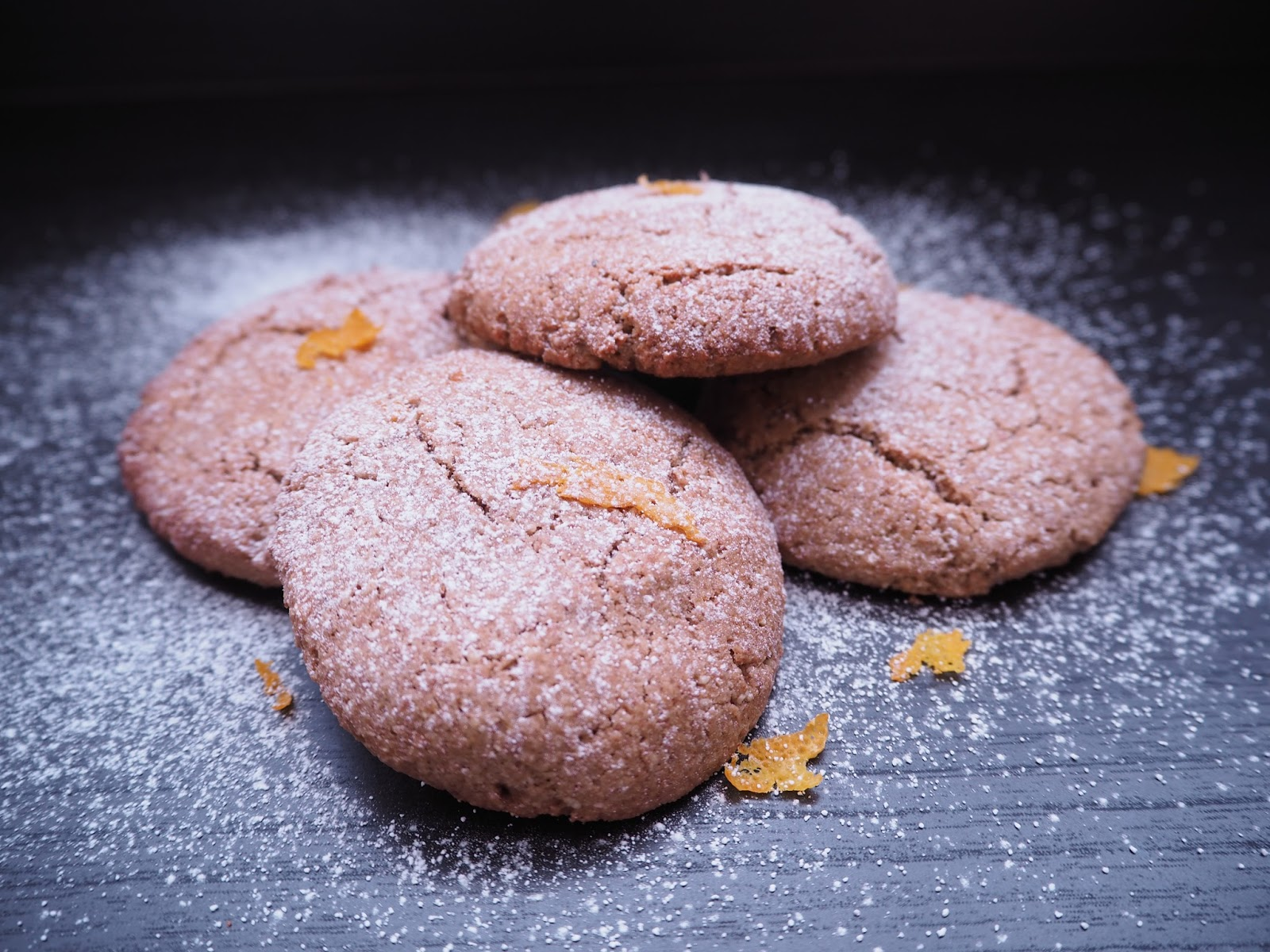 These orange spice biscuits / cookies from Niomi Smart's Eat Smart plant based cookbook are perfect for making in the festive season