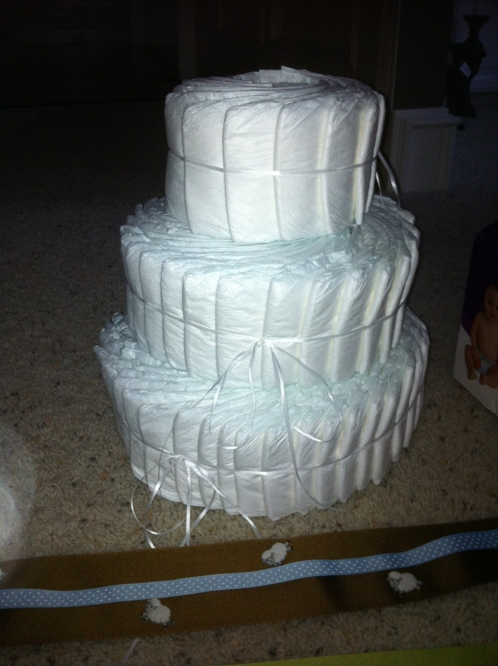 How To Attach A Topper To A Diaper Cake