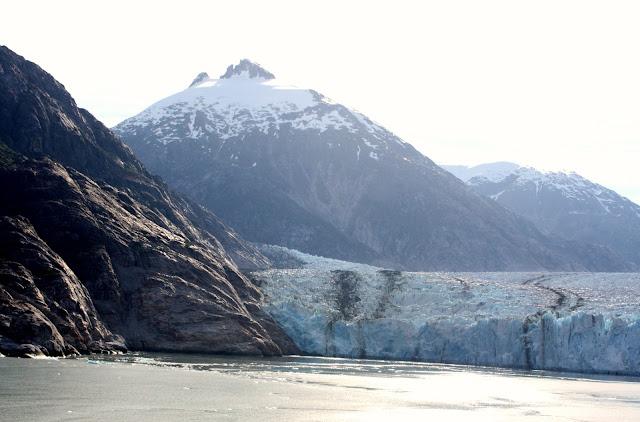 Dawes Glacier, Alaska from a cruise ship