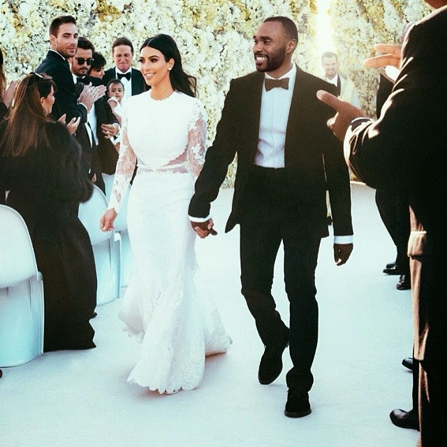 guy photos himself into kim kanye wedding