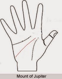 The line on the palm that indicates intelligent