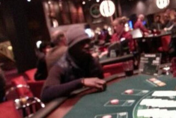 Papiss Cissé is seen gambling in a casino despite his refusal to wear Newcastle shirt with Wonga logo