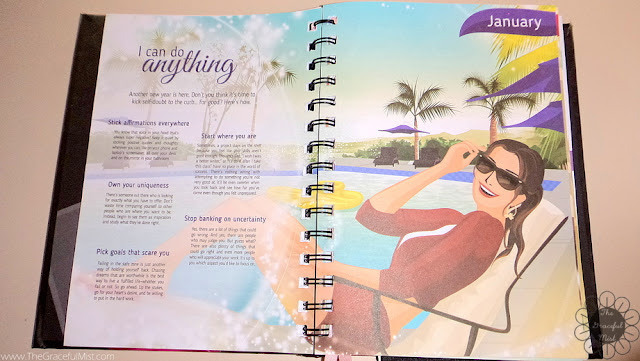 2016 Belle De Jour Power Planner: Monthly Inspirational Message Page Picture (Review at http://www.TheGracefulMist.com/)