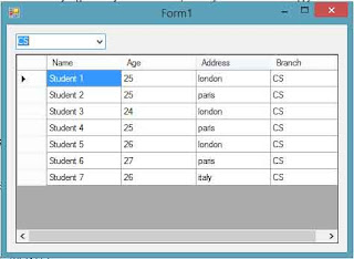 Filter data in datagridview according to combobox in c#