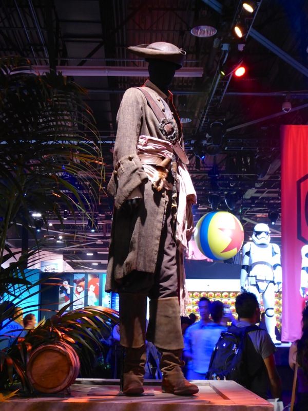 Captain Jack Sparrow costume Pirates Caribbean D23 Expo 2015