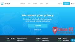 A-ads.com Situs Pengiklan Terbaik Selain Adsense - LEGIT