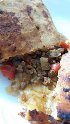 Crêpes turques fourrées à la viande;Crêpes turques fourrées à la viande