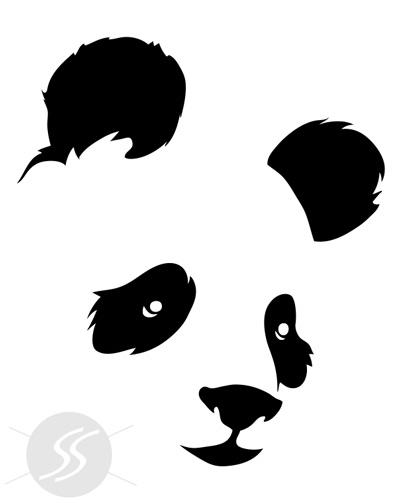 Adesivo decorativo panda
