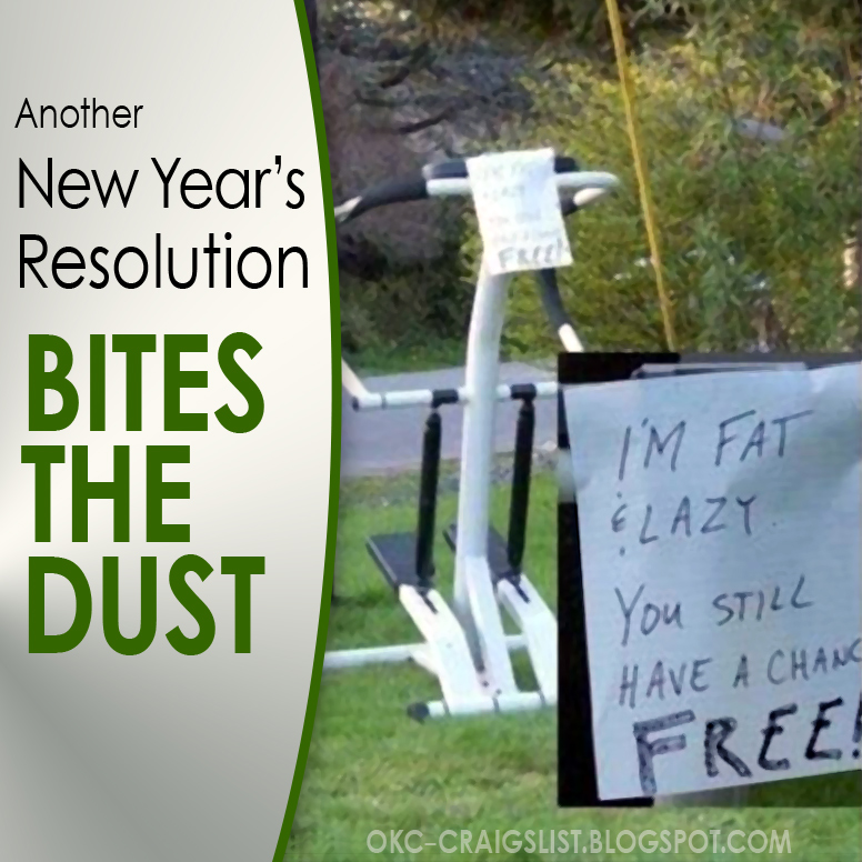 FRIDAY FUNNY:  New Year's Resolution Bites Dust