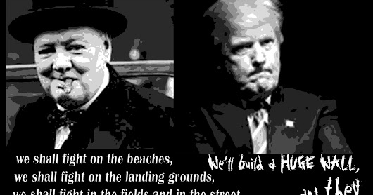Churchill & Trump, separated at birth?