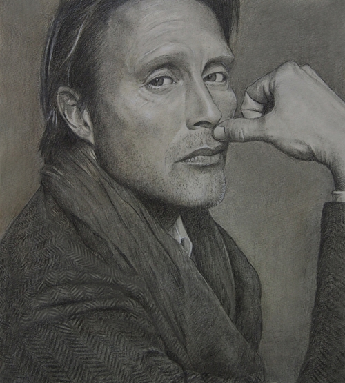 09-Mads-Mikkelsen-ekota21-Very-Detailed-Celebrity-Portrait-Drawings-www-designstack-co