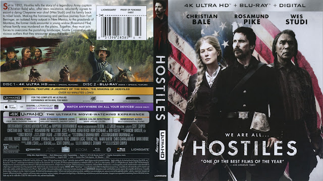 Hostiles 4K Bluray Cover