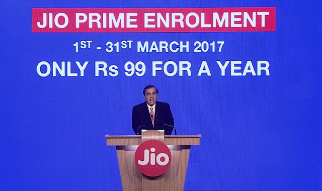 Reliance Jio Prime Membership Plan at Rs 99 a Year