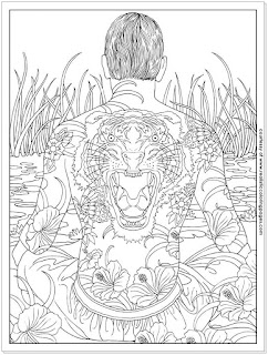 printable tattoo design adult coloring pages