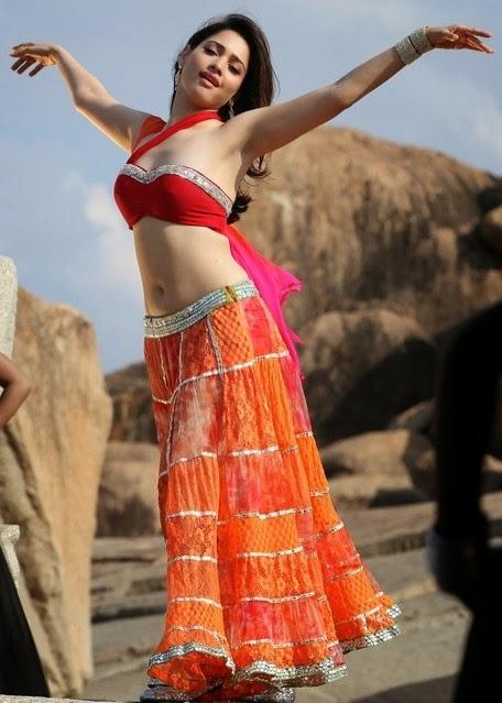 Tamanna In Tadakha Halfsaree: Tamanna Bhatia Hot Navel Hip Show In Half Saree Pics From