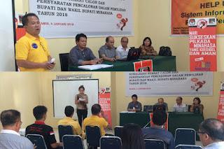 KPU Sosialisasi Syarat Pencalonan dan Syarat Calon Kepada Perwakilan Parpol