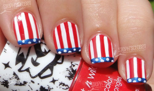 4th of july nail art designs 2017 fourth of july nail art 4th of july nail art designs 20172b prinsesfo Image collections