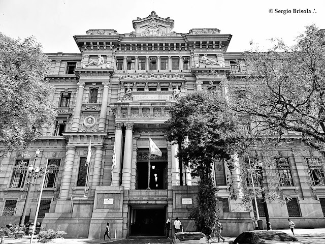 Fachada do Prédio Palácio da Justiça - São Paulo - Região Sé
