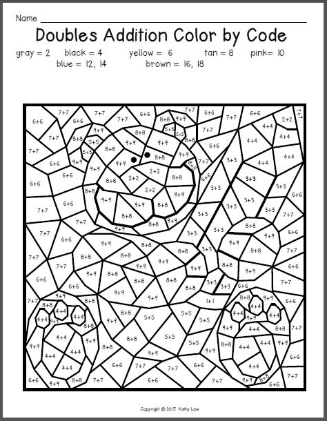 christmas doubles First Grade a la Carte math  in other words, I - new math coloring pages 4th grade