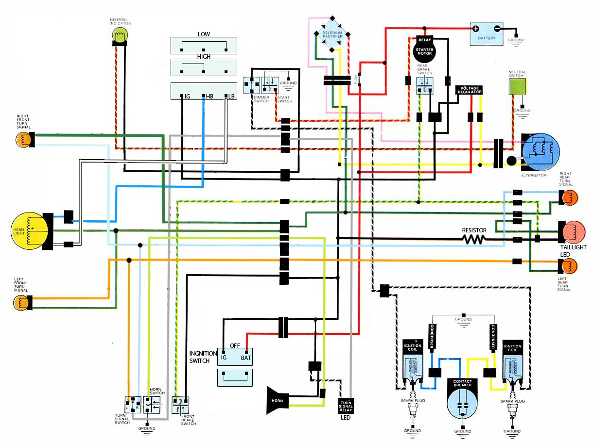 hight resolution of 1983 yamaha maxim wiring diagrams