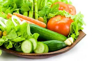 กินผักกับสิวที่คาง