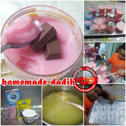 Resepi Mudah Dadih Susu Strawberry