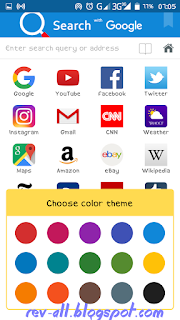 Memilih warna tema browser smart search oleh rev-all.blogspot.com