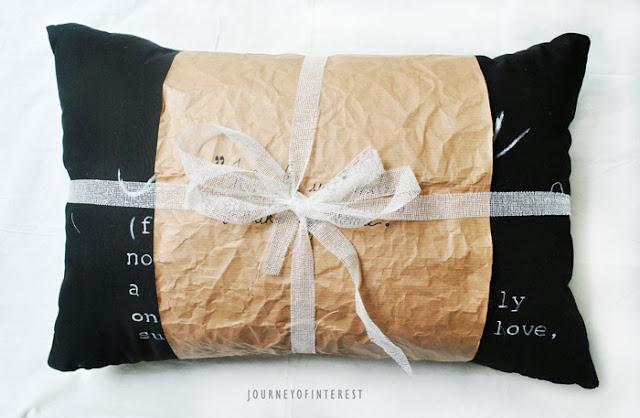 DIY pillow wrap
