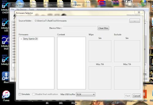 تخطى رمز حمايه لهاتف  SONY E5333 XPERIA C4 الملف المستخدم + البرنامج المستخدم + الشرح الوافى