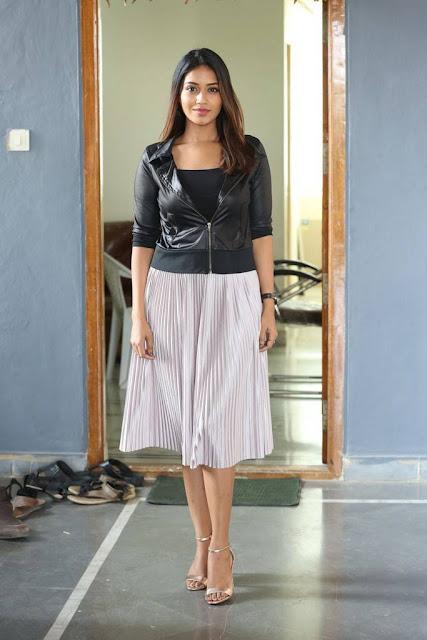 Nivetha Pethuraj Stills At Mental Madilo Movie Interview
