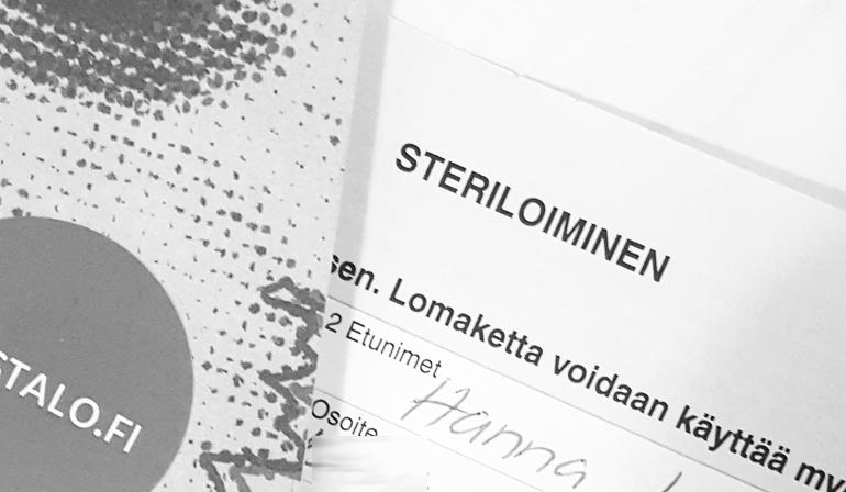 sterilisaatio sterilointi sektio