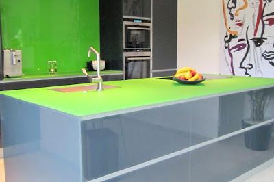 Glas Arbeitsplatten Küche