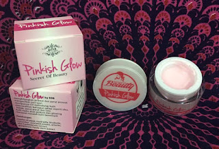 PINKISH GLOW SECRET OF BEAUTY MEMBANTU MENCERAHKAN KULIT