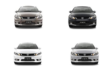 Honda Civic mang đến 4 sự lựa chọn màu sắc